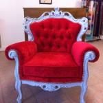 fauteuil baroque capitonné tapissier