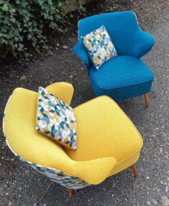paire fauteuils années 50